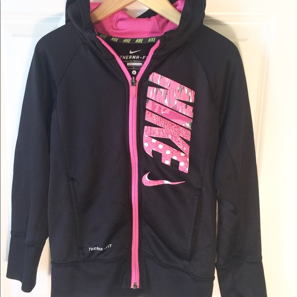 d0e26b778 Nike Jackets & Coats | Jacket Therma Fit With Hood Girls Size Sm ...